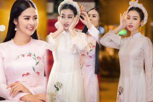 Hoa hậu Mỹ Linh gặp sự cố trang phục, Ngọc Hân nhiệt tình chỉnh trang cho đàn em