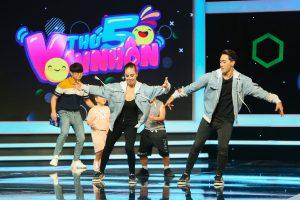 Xuân Thảo và Đình Lộc nhảy cực sung trên sân khấu Thử tài siêu nhí
