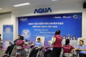 AQUA Việt Nam cùng Đỗ Mỹ Linh và Trần Tiểu Vy hiến máu vì cộng đồng