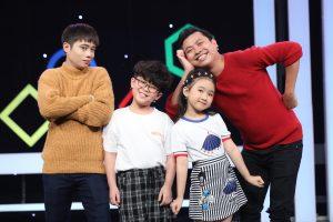 Tuấn Dũng và Lạc Hoàng Long thi mặc quần áo với người mẫu nhí Quốc Dương và stylist Candy Ngọc Hà