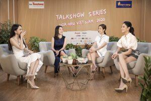 """Hương Giang cùng Đỗ Mỹ Linh, Lương Thùy Linh """"chặt chém"""" nhau trong talkshow HHVN 2020"""