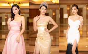 Đỗ Mỹ Linh, Tiểu Vy, Lương Thuỳ Linh khoe dáng đỉnh cao, đọ sắc một chín một mười tại họp báo Hoa hậu Việt Nam 2020