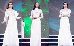 Sắc trắng phủ kín sân khấu, phần thi Áo dài tạo điểm nhấn khác biệt đánh dấu hành trình 10 năm Hoa hậu Việt Nam 2020