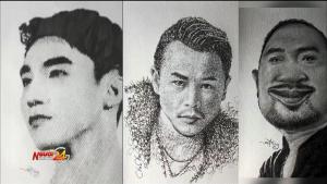 Chàng trai sở hữu nhiều clip triệu lượt xem bằng những nét vẽ độc lạ