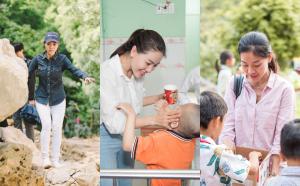 """""""Bà trùm Hoa hậu"""" Phạm Kim Dung cùng dàn Hoa Á hậu gây quỹ cứu trợ miền Trung"""