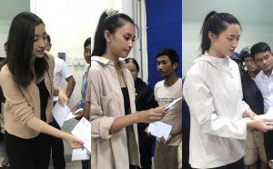Vừa đặt chân đến Huế, Đỗ Mỹ Linh – Tiểu Vy – Lương Thuỳ Linh đã gấp rút đến thăm người dân khó khăn sau bão