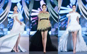 Tiểu Vy, Kỳ Duyên đọ catwalk trong bộ sưu tập của NTK Lê Thanh Hòa