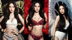 Hoa Hậu Tiểu Vy đọ dáng nóng bỏng cùng hai nàng Á Hậu trong thiết kế bikini của NTK Đỗ Long