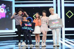 Nữ diễn viên Kim Thành duyên dáng bên Him Phạm cùng so tài với cặp tài năng nhí trong chương trình Thứ 5 vui nhộn