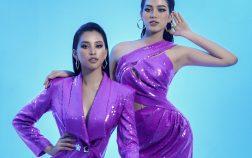 Hai nàng Hậu thế hệ 2k: Tiểu Vy, Đỗ Hà lần đầu đọ sắc trong thiết kế của Nguyễn Minh Tuấn