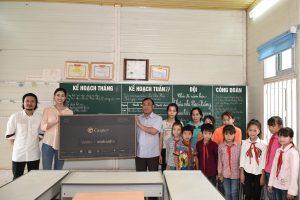 Hoa hậu Lương Thuỳ Linh trao tặng 10 chiếc tivi cho công nhân
