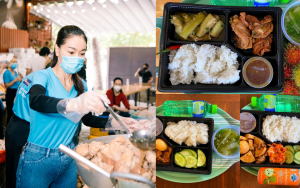 """""""Bà trùm Hoa hậu"""" tự tay lên thực đơn cho Bếp ăn thiện nguyện: ai cũng xuýt xoa vì bữa ăn chất lượng."""