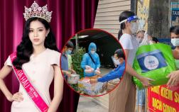 Hoa hậu Đỗ Thị Hà ủng hộ 1 tấn rau củ cho Chương trình 20.000 suất cơm miễn phí tặng người dân đang cách ly ở Thanh Hóa