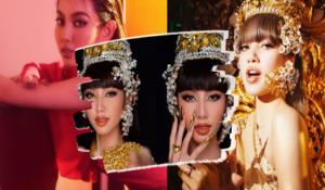 """Thùy Tiên gây sốt với clip nói tiếng Thái, hóa thân thành """"công chúa Thái"""" đang gây bão của Lisa"""